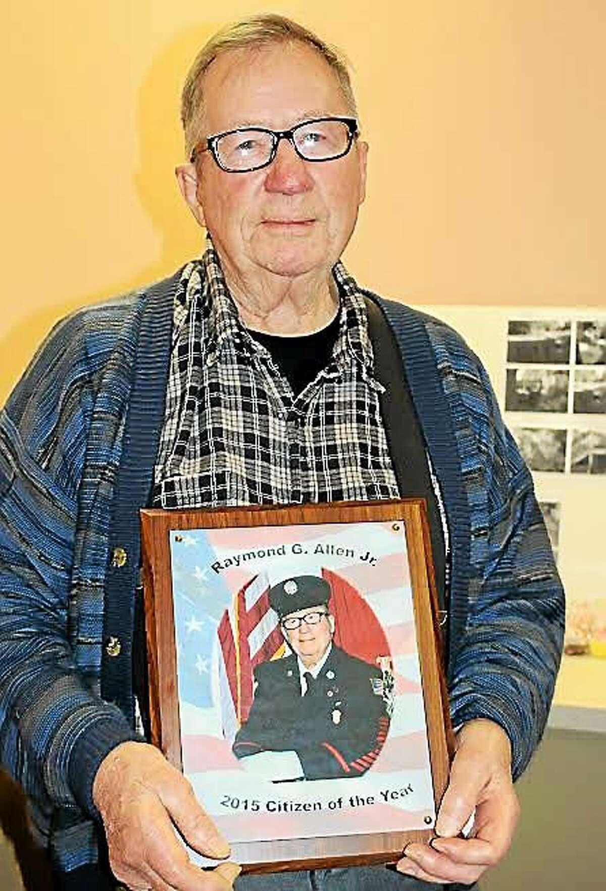 Raymond G. Allen, Derby's Citizen of the Year.