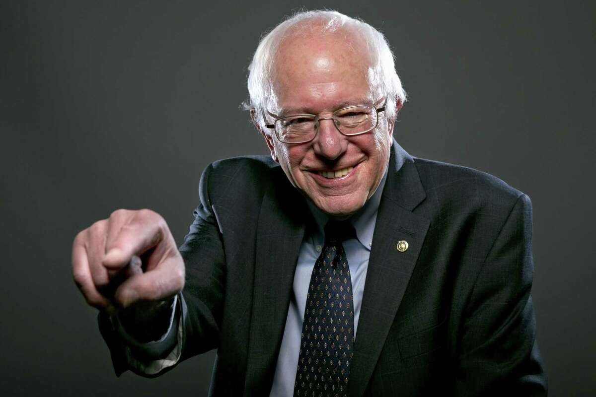 In this photo taken May 20, Democratic Presidential candidate Sen. Bernie Sanders, I-Vt., poses for a portrait before an interview with The Associated Press in Washington.