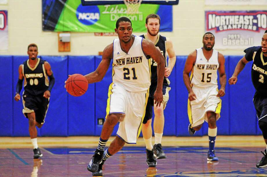 New Haven senior Eric Anderson recorded the first triple-double in Chargers history earlier this season, earning national player of the week honors for his efforts. Photo: Photo Courtesy Of New Haven Athletics