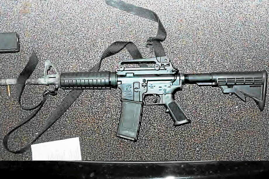 Sandy Hook - Bushmaster - Room 10. From the States Attorney's report on the Newtown killing. ¬  ¬ The weapon Adam Lanza used in the killings. Photo: Journal Register Co.