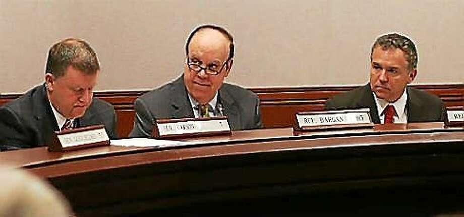 Reps. Stephen Dargan, Joe Verrengia and Sen. Tim Larson Photo: CHRISTINE STUART PHOTO