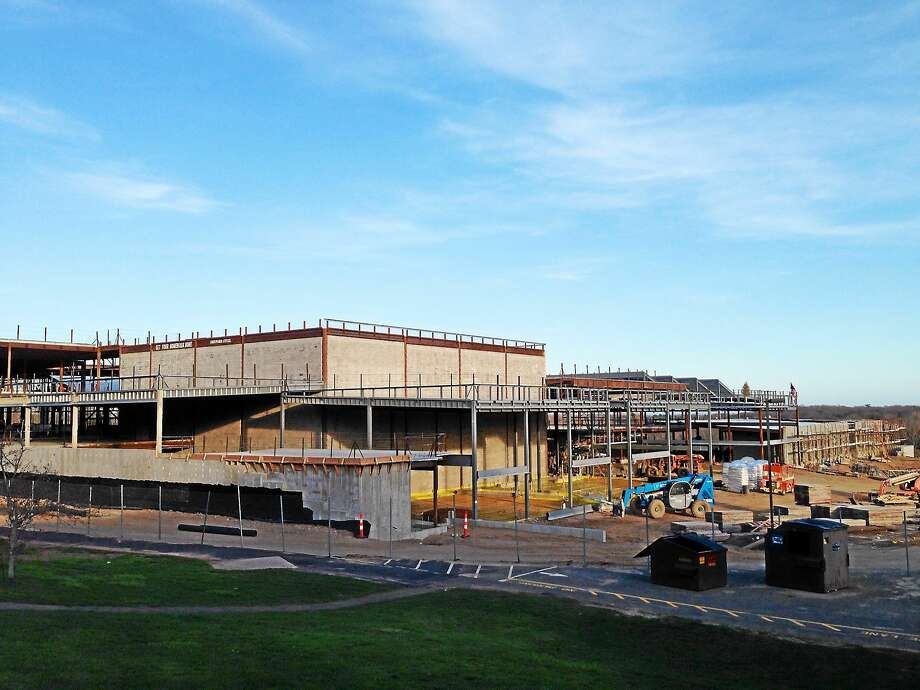 Construction continues on the new Guilford High School. Photo: SEAN CARLIN — NEW HAVEN REGISTER FILE PHOTO