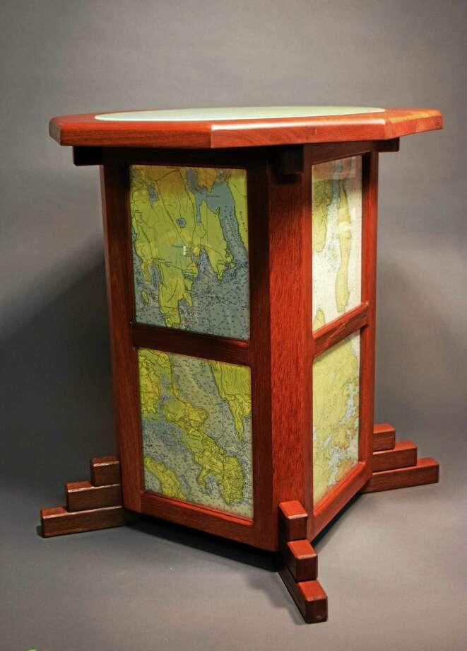 Down East mahogany table by Jim Goodridge. Photo: Courtesy Eli Whitney Museum