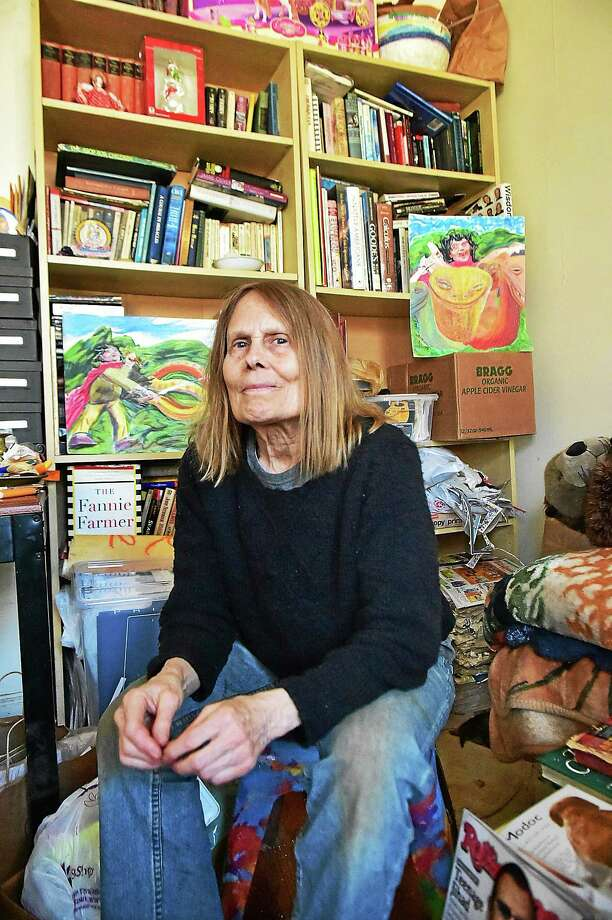 Elizabeth Walker in her New Haven apartment. Photo: Catherine Avalone — New Haven Register   / New Haven RegisterThe Middletown Press