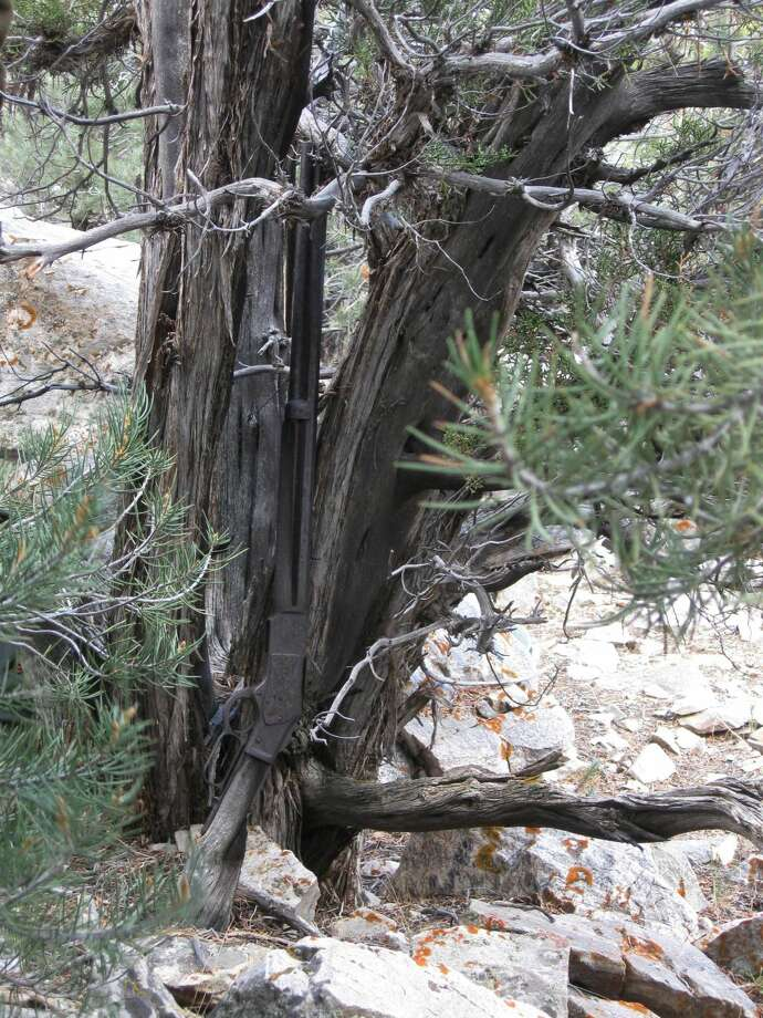 This image provided by the Great Basin National Park shows a Winchester Model 1873 rifle found in Nevada. Photo: AP Photo/National Park Service   / National Park Service