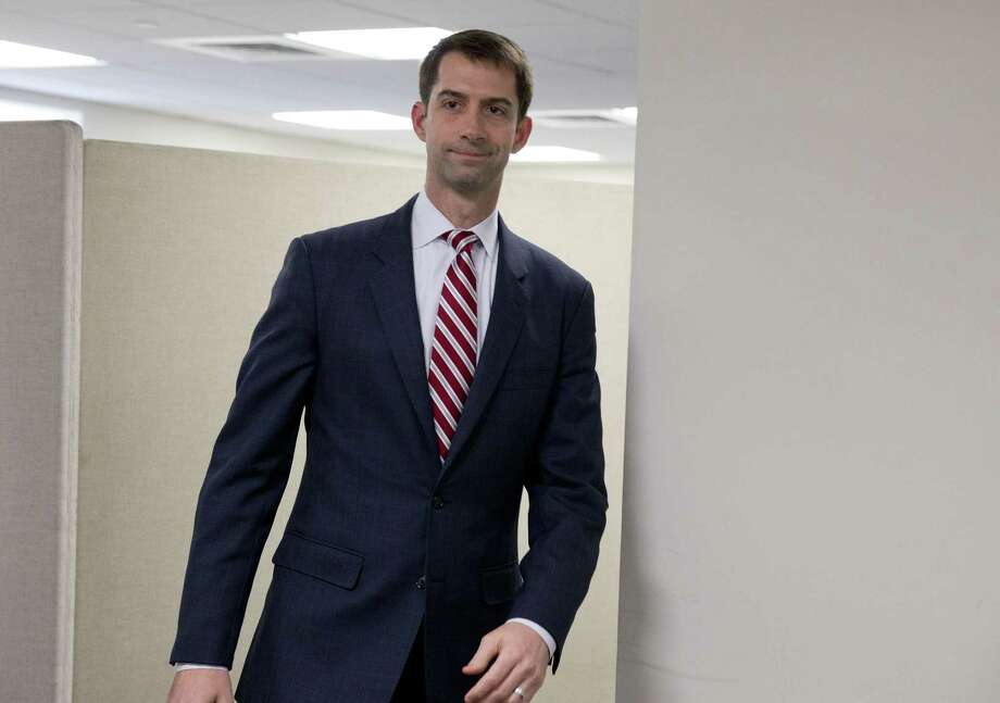 In this March 11 file photo, Sen. Tom Cotton, R-Ark. walks on Capitol Hill in Washington. Photo: AP Photo   / AP