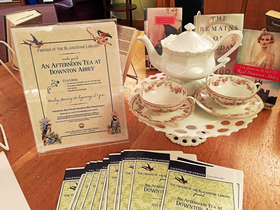 There will be white glove service at the Downton Abbey Tea at the Blackstone Library. Photo: Contributed