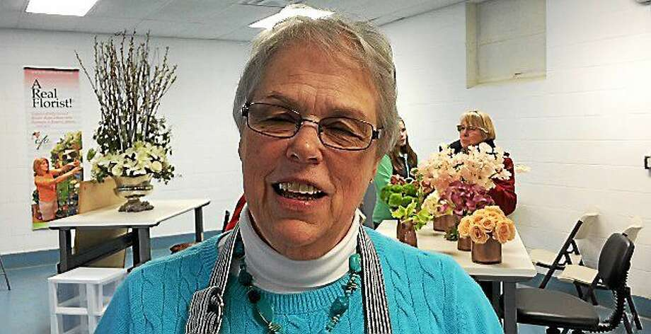Sylvia Nichols, director of The Northeast Floral Education Center. Photo: LUTHER TURMELLE — NEW HAVEN REGISTER