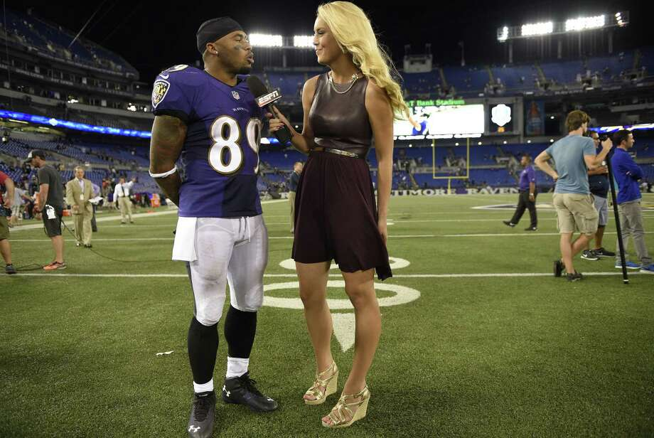 ESPN reporter Britt McHenry has been suspended after a video surfaced of her insulting a towing company clerk's intelligence, job and appearance. Photo: Nick Wass — The Associated Press File Photo   / FR67404 AP