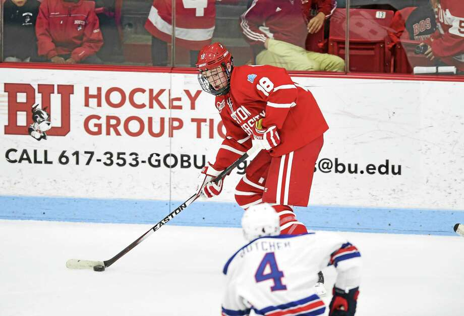 New Canaan's Kevin Duane will transfer from Boston University to Quinnipiac this fall. Photo: Steve McLaughlin — BU Athletics
