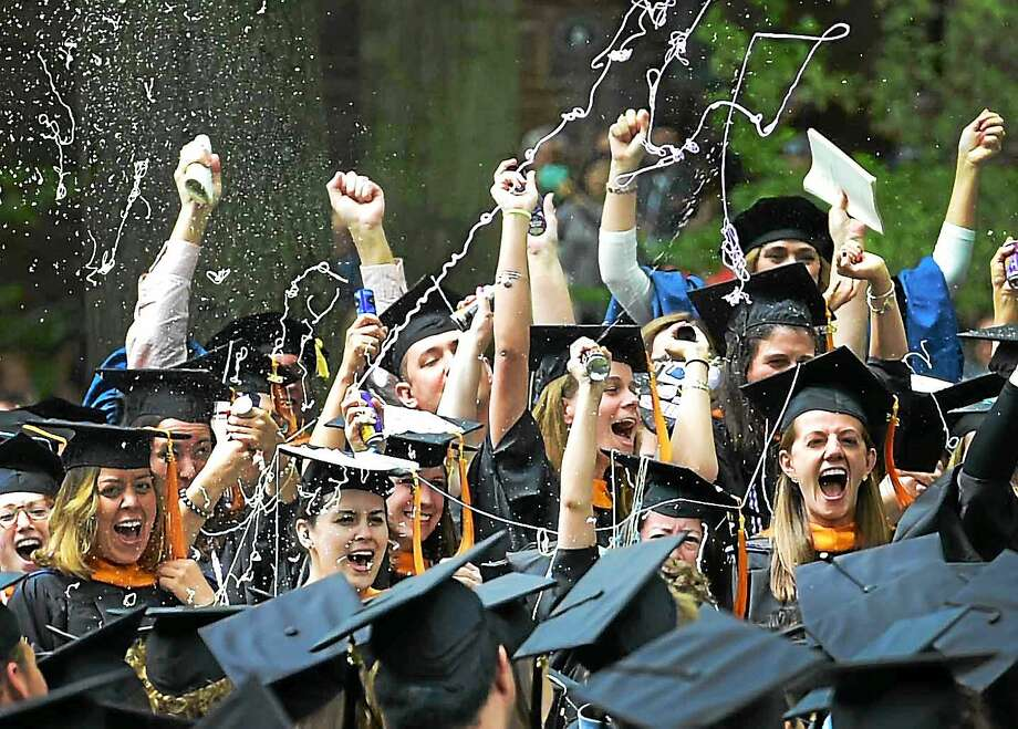Yale University's 340th commencement and honorary degree ceremony on Old Campus Monday in New Haven. Photo: Peter Hvizdak — New Haven Register   / ©2015 Peter Hvizdak