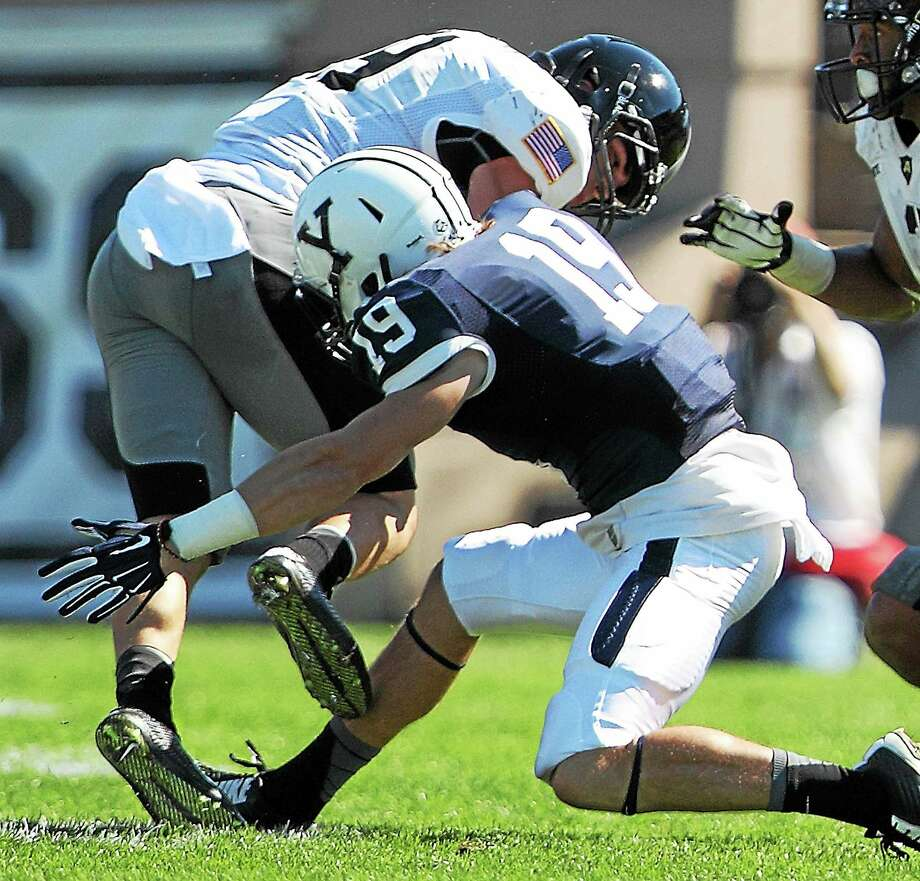 Yale freshman Jason Alessi has had a promising first year for the Bulldogs' football and lacrosse teams. Photo: Photo Courtesy Of Yale Athletics   / 2014 All Rights Reserved