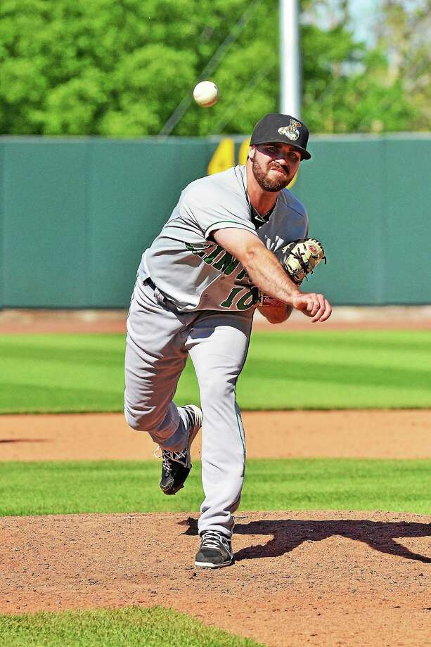 Waterbury's Kody Kerski is settling into his role as closer for the Clinton Lumberkings, Class A affiliate of the Seattle Mariners. Photo: Submitted Photo