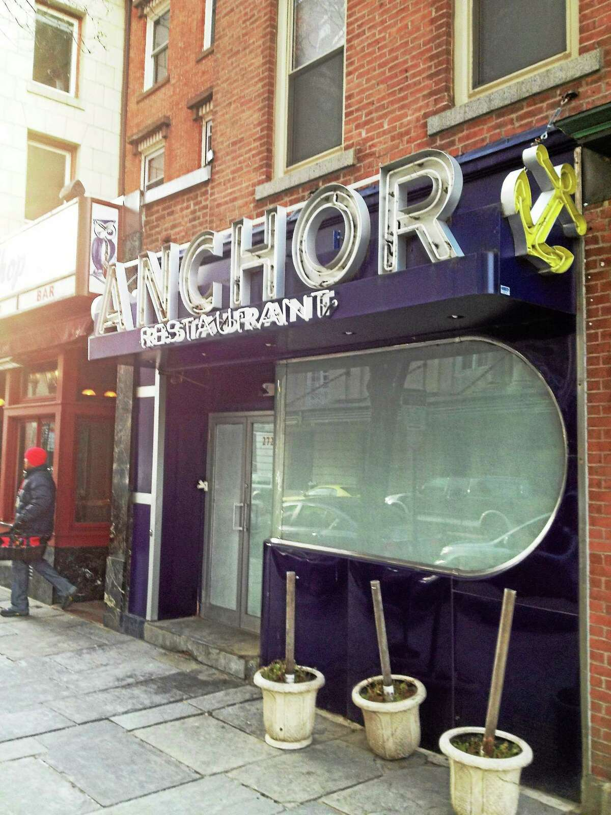 The Anchor bar on Chapel Street in New Haven is closed.