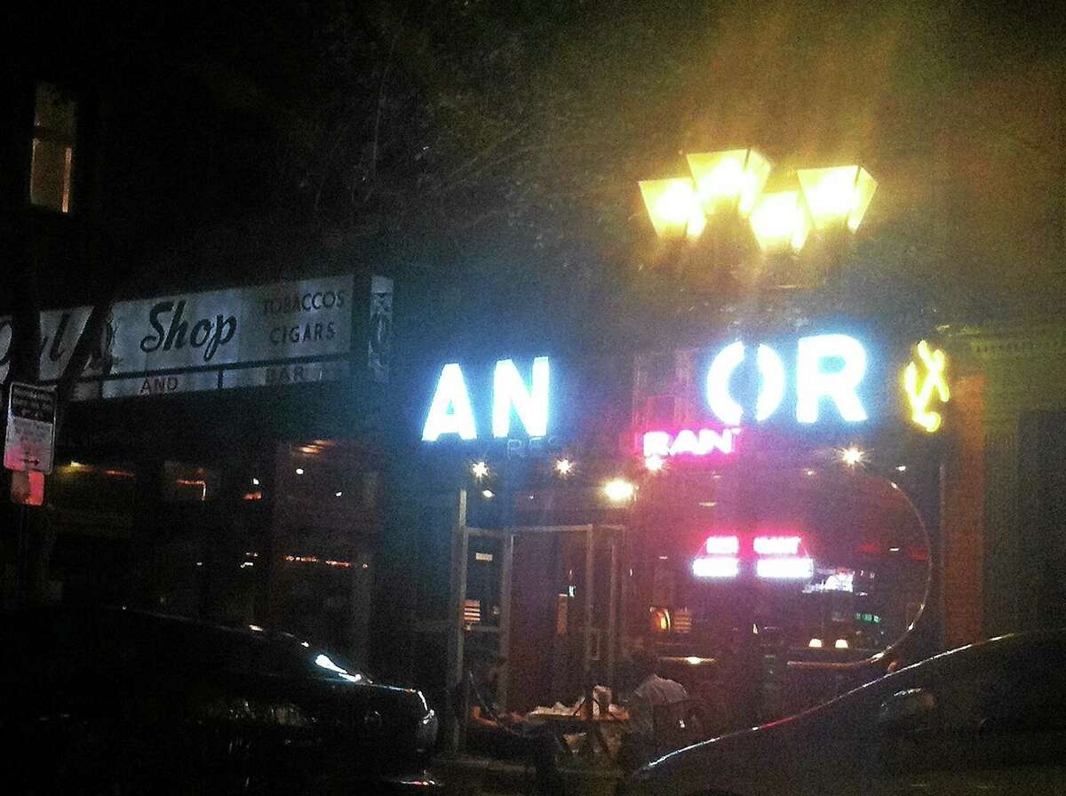The Anchor Bar in New Haven when two of its lights were out.