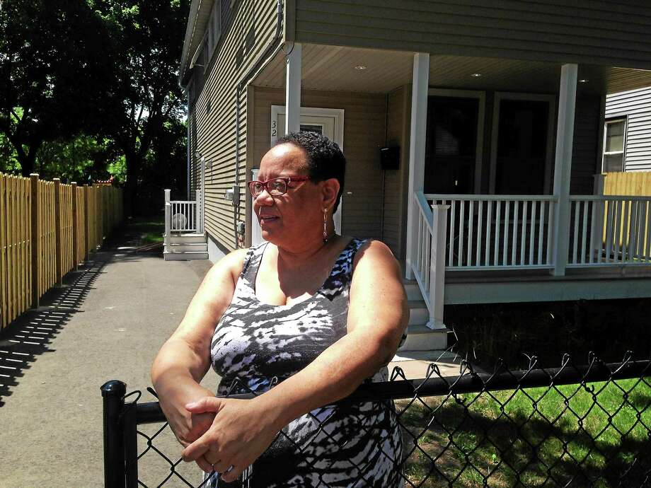 Monika Mittelholzer has lived at 32 Lilac St. in New Haven for a month. Photo: Journal Register Co.