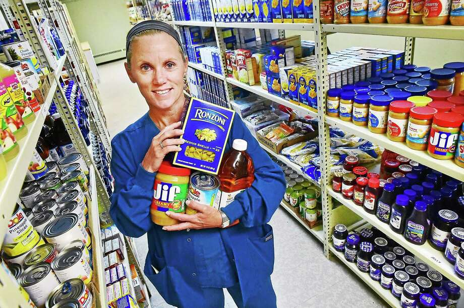 Lynn Riordan, founder of the North Branford Food Bank. Photo: Catherine Avalone — New Haven Register   / New Haven RegisterThe Middletown Press
