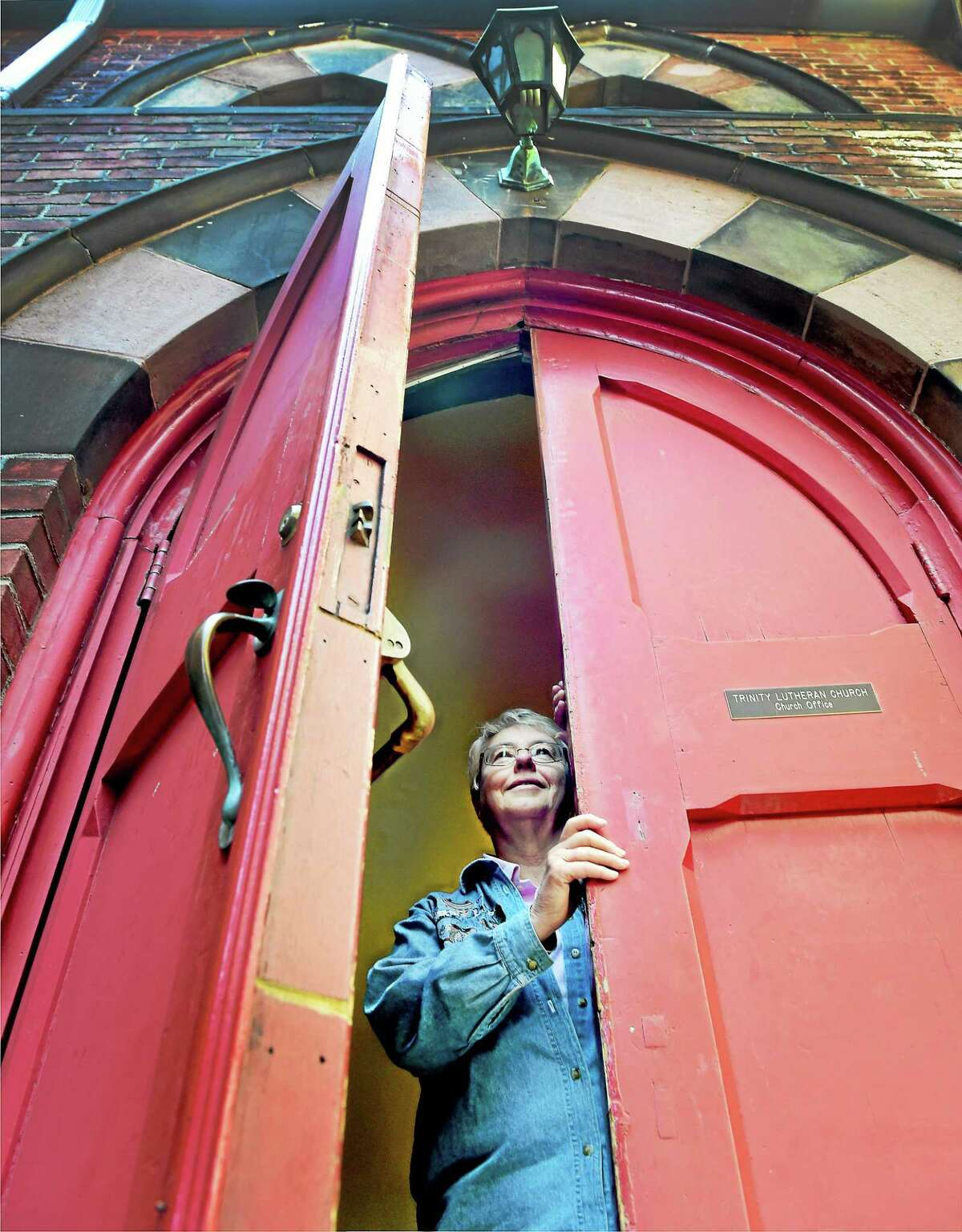 (Peter Hvizdak - New Haven Register) Ruth Setaro, a Port Chaplain for New Haven Harbor, is a member of Trinity Lutheran Church ion New Haven. The church and Setaro support the Seafarers International House ministry helping foreign crews on cargo ships that come into the New Haven Port. Wednesday, April 29, 2015.
