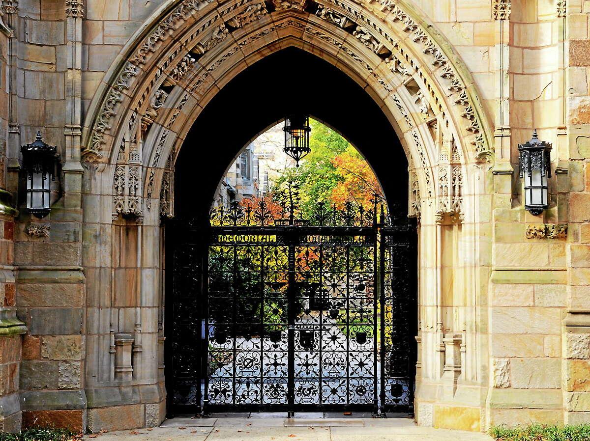 Patrick Franzis photo Memorial Quadrangle Gate at Yale.