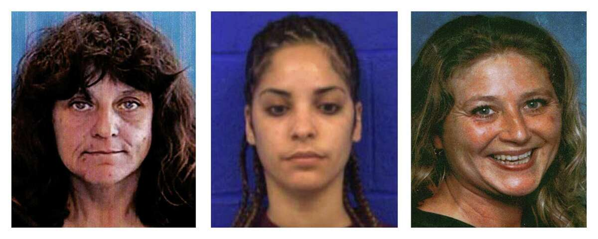 This three photo combination from the State of Connecticut, Division of Criminal Justice shows, from left, Diane Cusack, Joyvaline Martinez and Mary Jane Menard, who are believed to have been murdered by the same offender after they went missing in 2003.