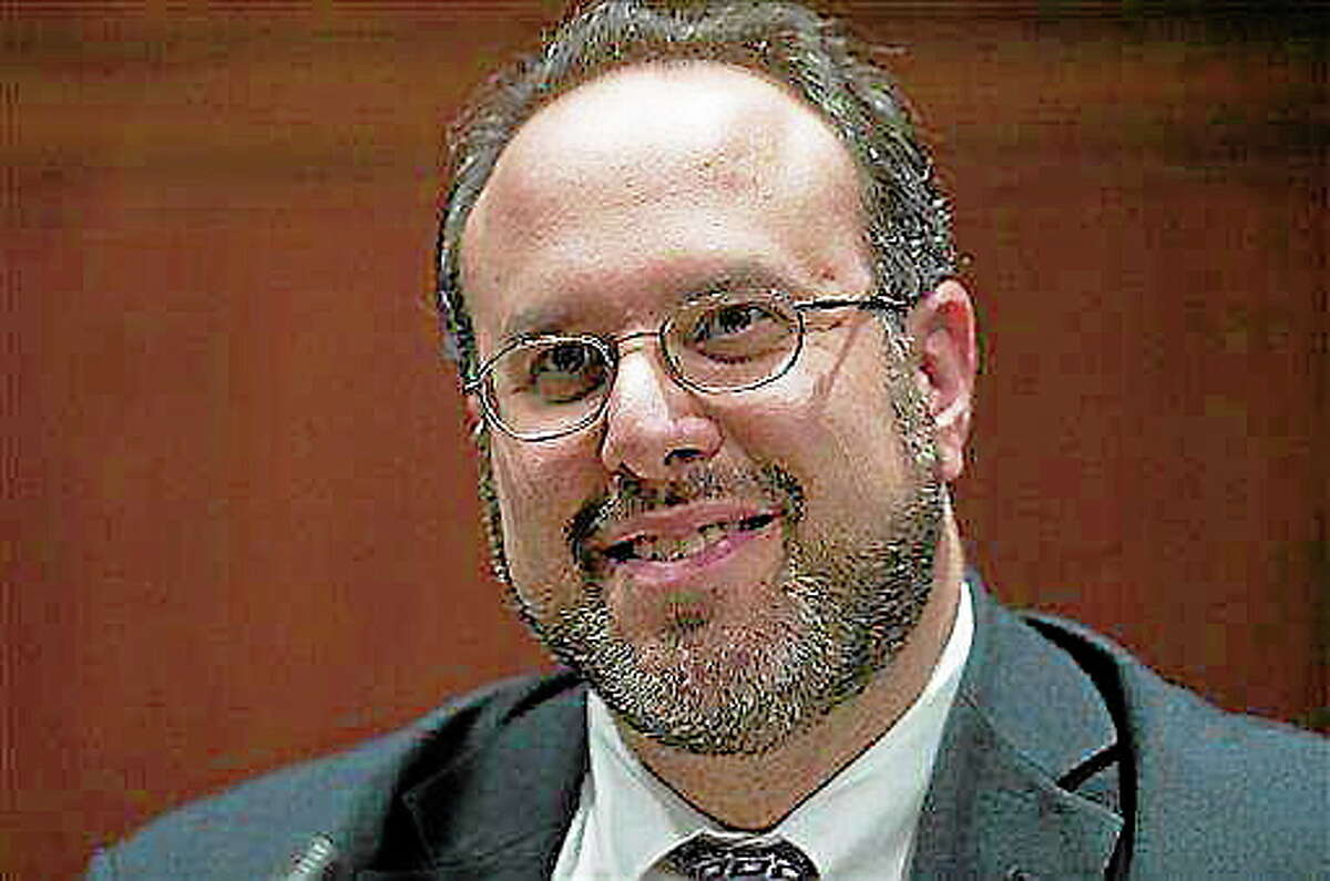 In this AP file photo, the nominee for Connecticut education commissioner, Stefan Pryor, speaks at a legislative confirmation hearing at the Legislative Office Building in Hartford in February 2012.