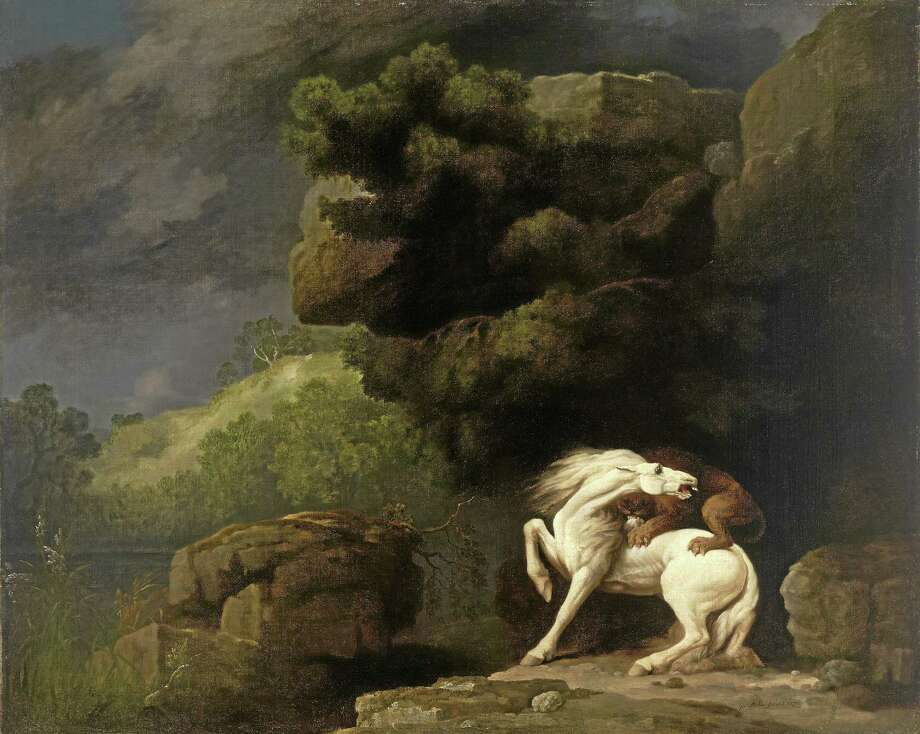"Yale Art Gallery  ""A Lion Attacking a Horse"" by George Stubbs. Photo: Journal Register Co."