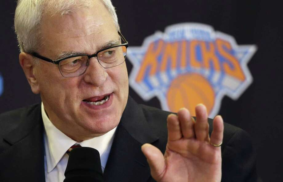 Phil Jackson won more than anybody as a coach and now appears committed to losing big in his first season as an executive — trading J.R. Smith and Iman Shumpert for salary cap savings with an eye on the future. Photo: Mark Lennihan — The Associated Press File Photo   / AP