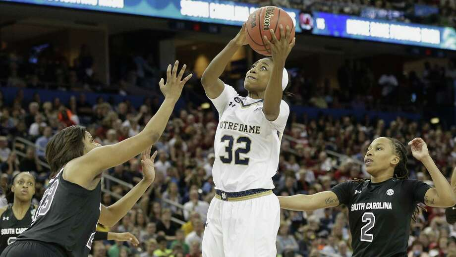 Notre Dame guard Jewell Loyd leads the Irish against UConn in the title game tonight. Photo: THE Associated Press   / AP