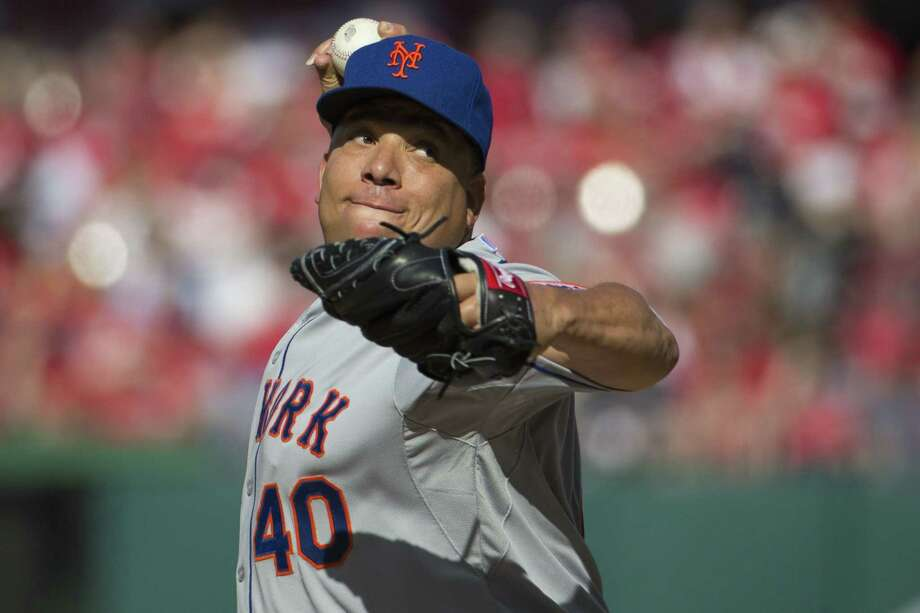 The Associated Press  Mets starting pitcher Bartolo Colon delivers against the Nationals during the first inning on Monday in Washington. Photo: AP / AP