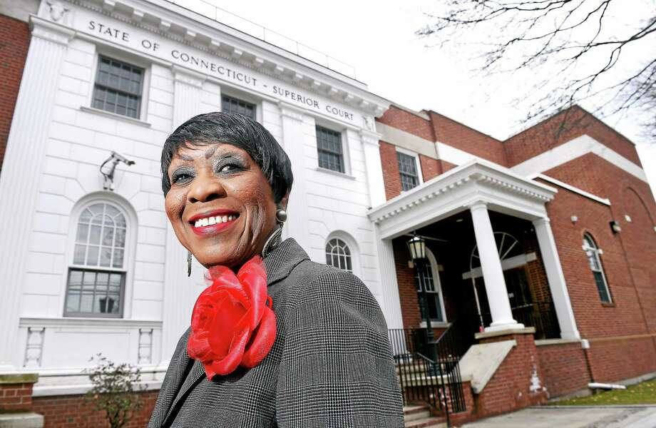 Carroll E. Brown, photographed in front of Milford Superior Court recently, will receive the Milford Bar Association's Liberty Bell Award next month. Photo: Arnold Gold — New Haven Register