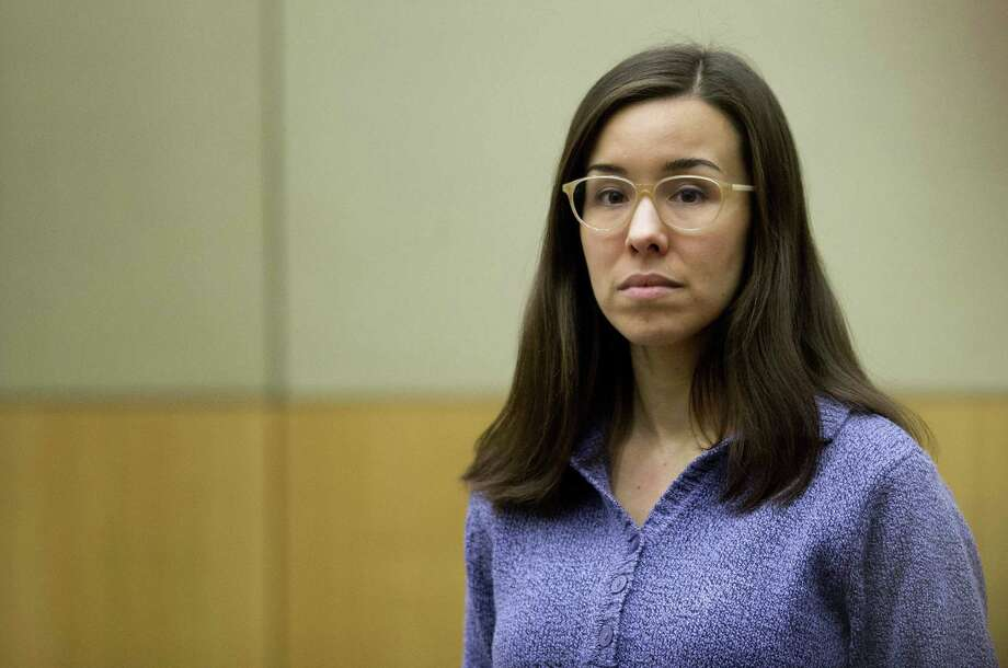 --FILE--In this Thursday, Feb. 12, 2015, file photo, Jodi Arias stands for the jury during her sentencing retrial at Maricopa County Superior Court, in Phoenix. Arias was spared the death penalty Thursday after jurors deadlocked on her punishment for killing her lover in 2008, meaning her sentence will be at most life in prison.(AP Photo/The Arizona Republic, Cheryl Evans, Pool) Photo: AP / ARIZONA REPUBLIC