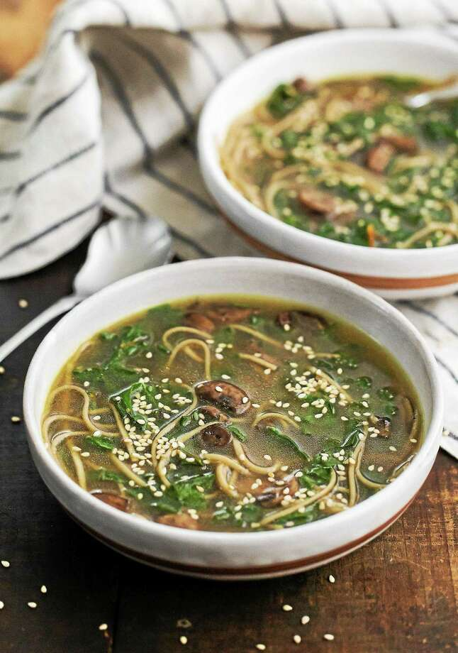 Soba Noodle Soup With Mushrooms and Chard. Photo: Erin Alderson — Tribune Content Agency