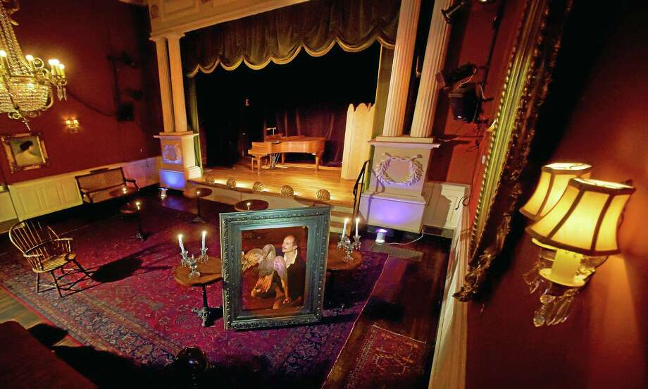 Owner John Cavaliere in the historic community theater he revitalized in the back of the Lyric Hall building on Whalley Avenue in the Westville section of New Haven. The building serves as an antiques restoration business in the front of the building with the theater in the back. Photo: Peter Hvizdak — New Haven Register    / ©2015 Peter Hvizdak
