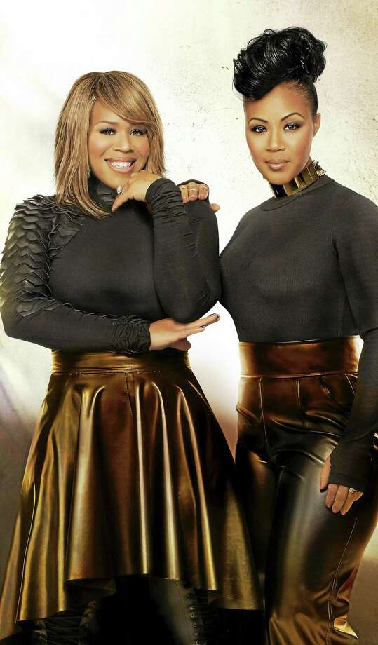 Contributed photo  Erica, left, and Tina Campbell of Mary Mary have won three Grammy Awards. Photo: Journal Register Co.