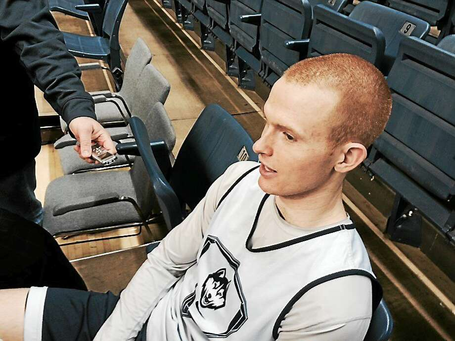 Cheshire native and Xavier grad Pat Lenehan will be honored on Thursday during UConn's Senior Night at Gampel Pavilion before the Huskies' game against Memphis. Photo: David Borges — Register