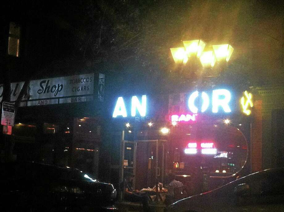 The Anchor Bar in New Haven when two of its lights were out Photo: Journal Register Co.