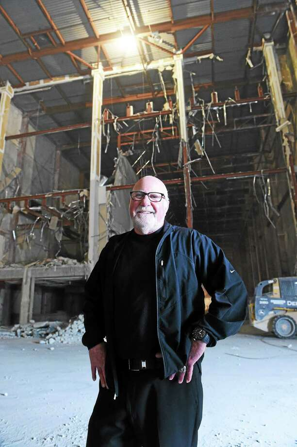 Eliot Tatelman, president and CEO of Jordan's Furniture, poses for a portrait in what used to be the New Haven Register pressroom after a ground-breaking ceremony Wednesday for the new furniture store at the Register's former Sargent Drive building. Photo: Peter Hvizdak — New Haven Register   / Peter Hvizdak