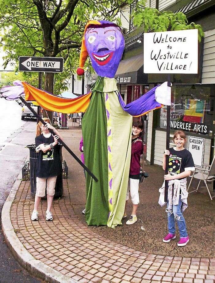 Photo: ArtWalk  Even The Welcome Crew Makes An Art Statement At A Previous ArtWalk. ArtWalk