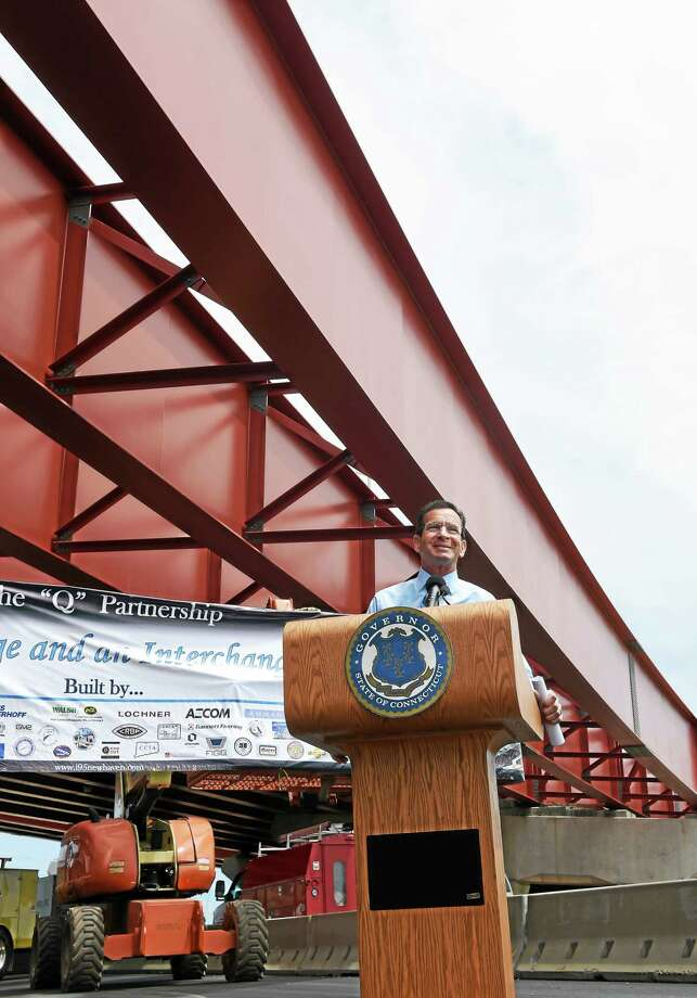 Governor Dannel P. Malloy at a news conference to give updates on major upgrades to the I-95 / I-91 interchange near a Water Street construction site in New Haven, Friday,  June 5, 2015. The project is part of a $2 billion multi-faceted transportation improvement program. Photo: (Peter Hvizdak - New Haven Register)   / ©2015 Peter Hvizdak