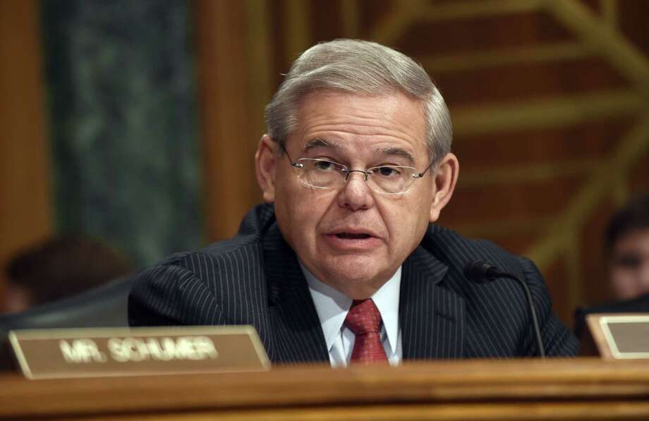 U.S. Sen. Robert Menendez, D-N.J. speaks on Capitol Hill in Washington. It flew through the Republican-run House in 2012, and a year later 79 of the Democratic-led Senateís 100 members embraced it. With Republicans now controlling both chambers of Congress, the chances for repealing the 2.3 percent tax on medical devices are better than ever. Photo: AP Photo   / AP