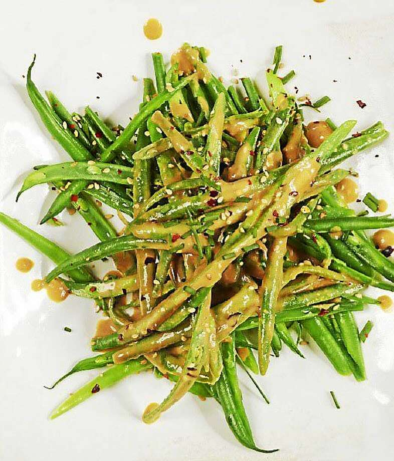 Roasted Green Beans With Sesame Seed Dressing Photo: Jody Horton — Tribune Content Agency