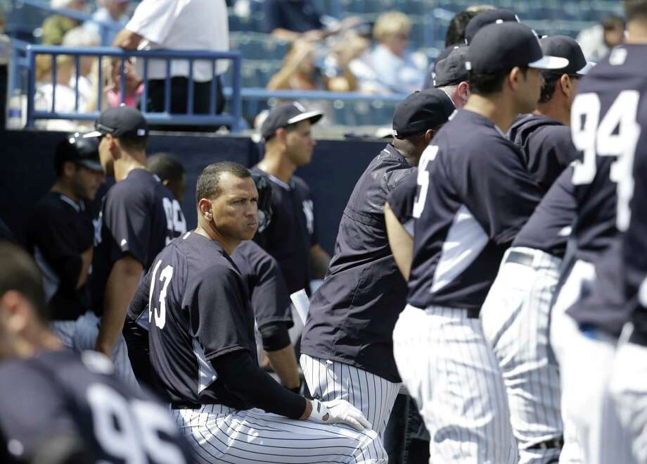 The New York Yankees' Alex Rodriguez watches during a spring training intrasquad game on Monday in Tampa, Fla. Photo: Lynne Sladky — The Associated Press   / AP