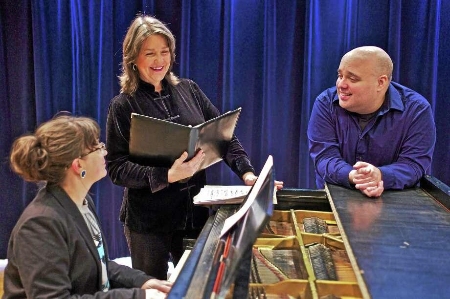 From left, Alexis Zingale, piano; Martha Oneppo, soprano; and Terrence B. Fay, tenor. Photo: J. Weaver Photo