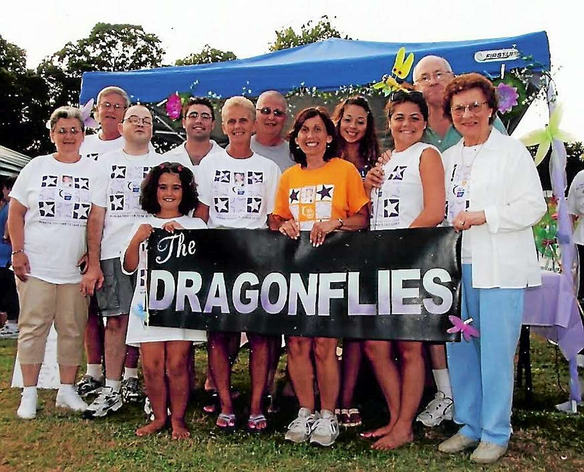 Deb DelVecchio-Sully with her Team Dragonfly Relay for Life team. Contributed photo