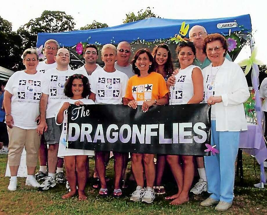 Deb DelVecchio-Sully with her Team Dragonfly Relay for Life team. Contributed photo Photo: Journal Register Co.