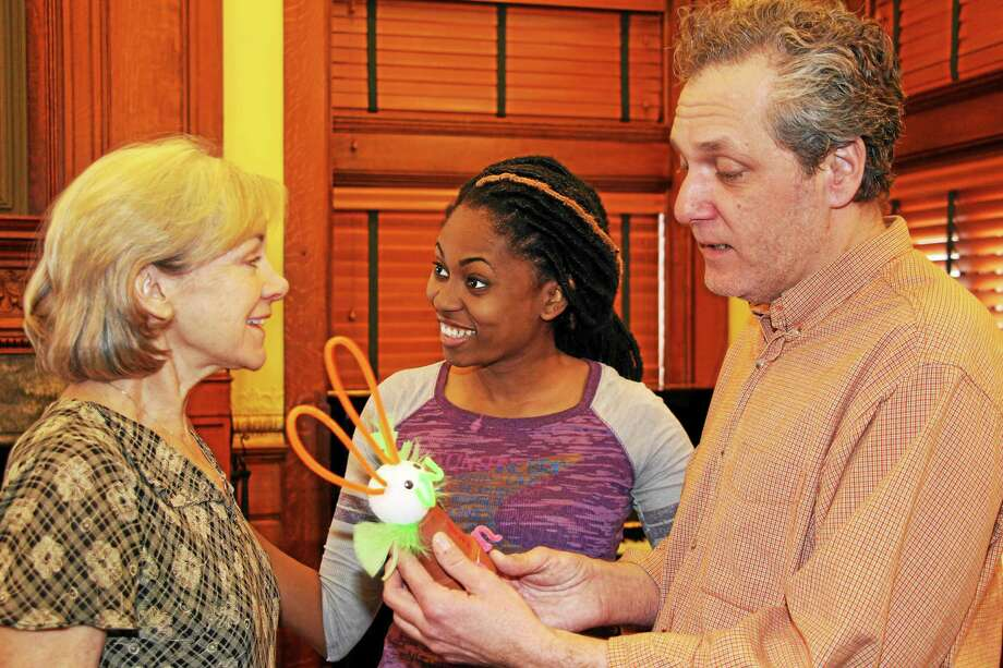 """From left, Janet Rathert, Jessica Myers and Brian Michael Riley in """"Good People."""" Photo: Contributed Photo"""