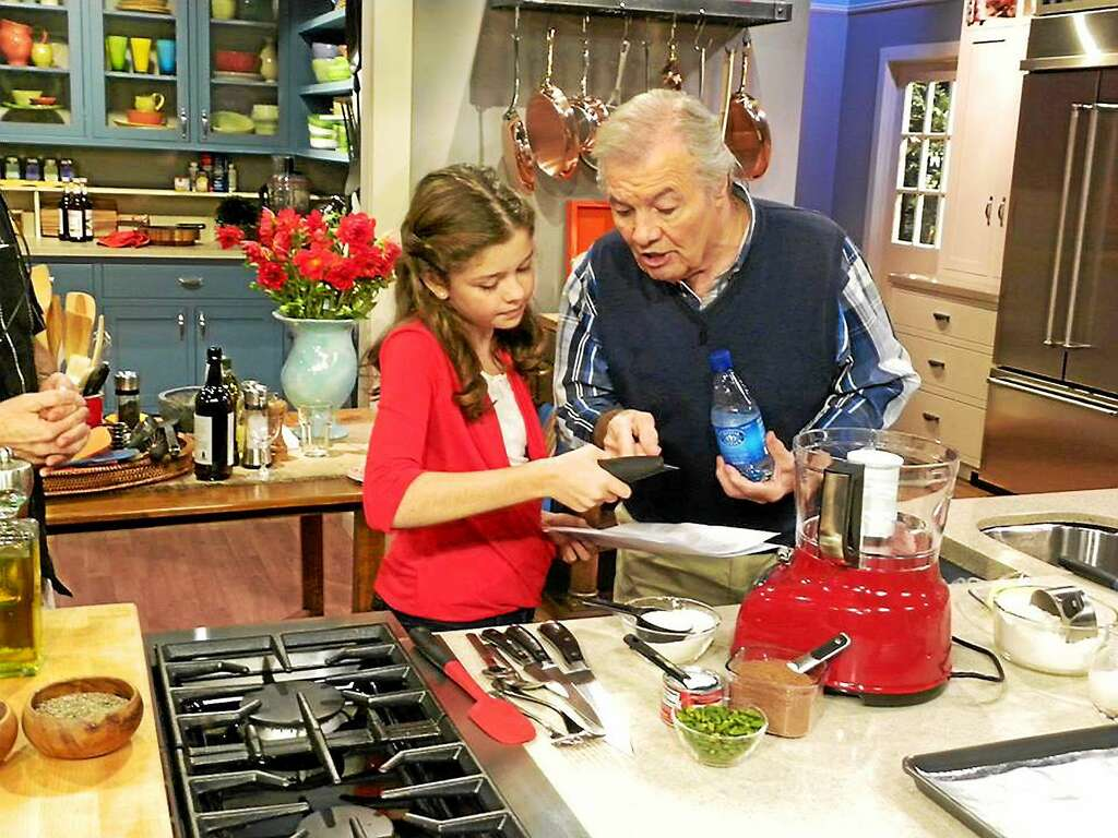 Jacques Pepin And His Granddaughter Sy On One Of Shows Photo Contributed