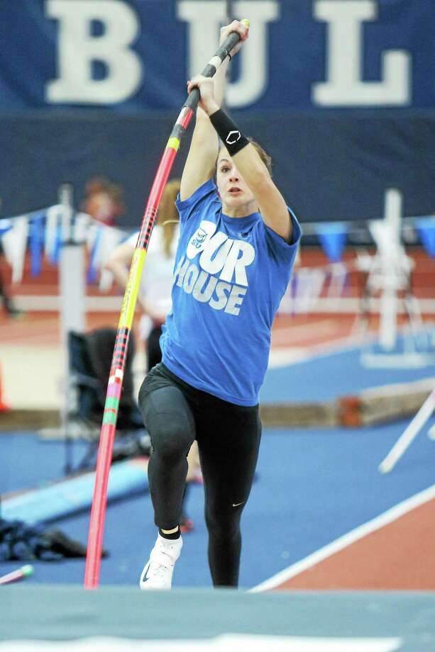 Southern Connecticut State pole vaulter Michelle Grecni will look to add a national championship to her resume on May 23. Photo: Photo Courtesy Of SCSU Athletics   / Steady Photography http://www.steadyphotography.com