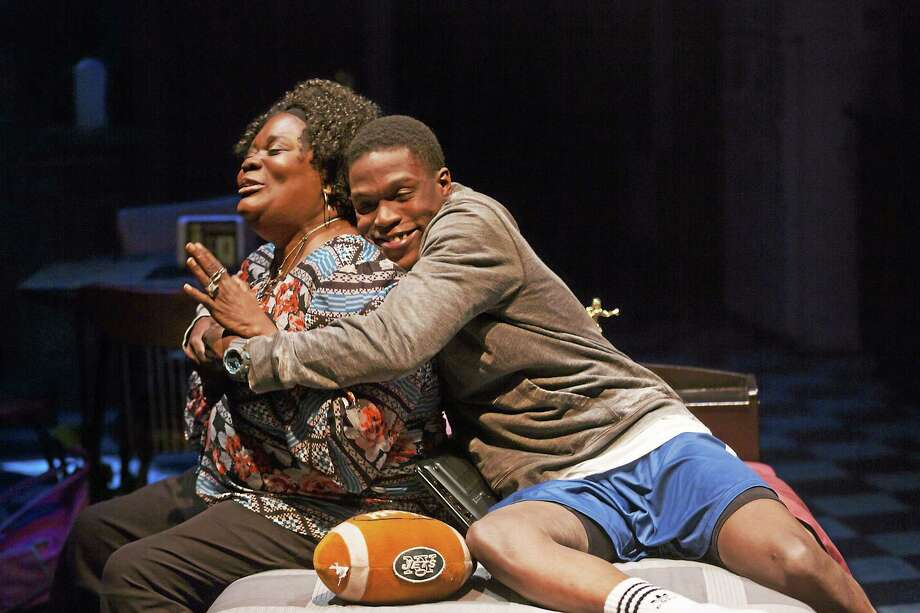 """Curtiss Cook Jr. (Tray) and Catrina Ganey (Lena) star in """"brownsville song (b-side for tray)."""" Photo: © T Charles Erickson Photography - Tcepix@comcast.net"""