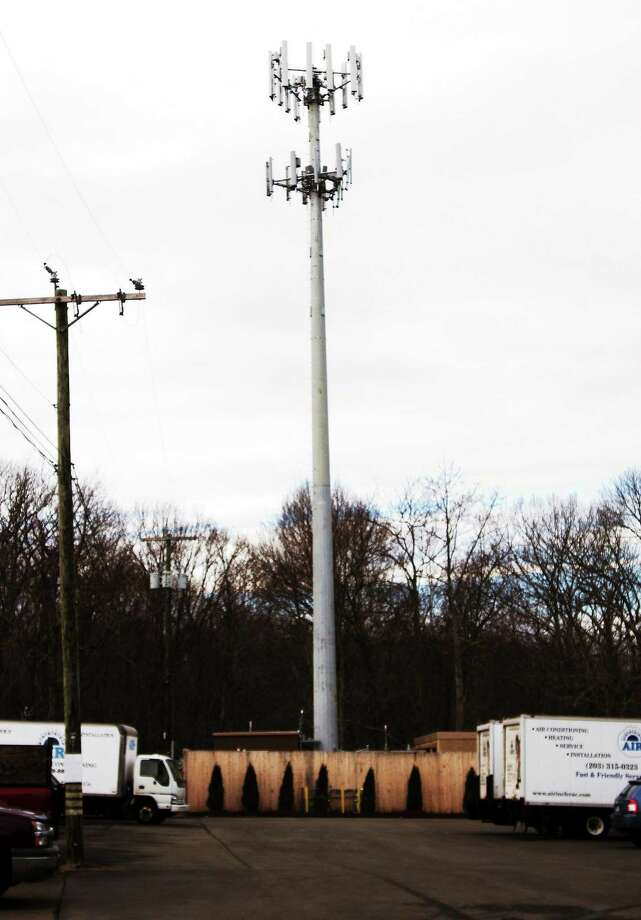 Cell phone tower off of Short Beach Rd., in Branford 12/30. Photo: Melanie Stengel - New Haven Register File Photo